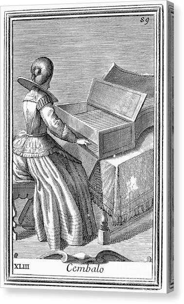 Harpsichords Canvas Print - Harpsichord, 1723 by Granger