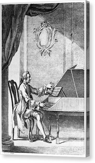 Harpsichords Canvas Print - Harpsichord Player by Granger