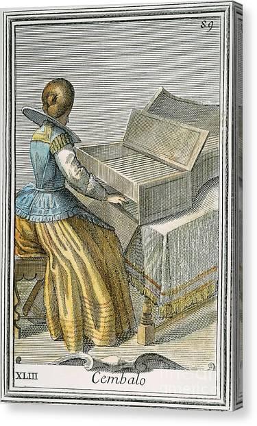 Harpsichords Canvas Print - Harpsicord, 1723 by Granger