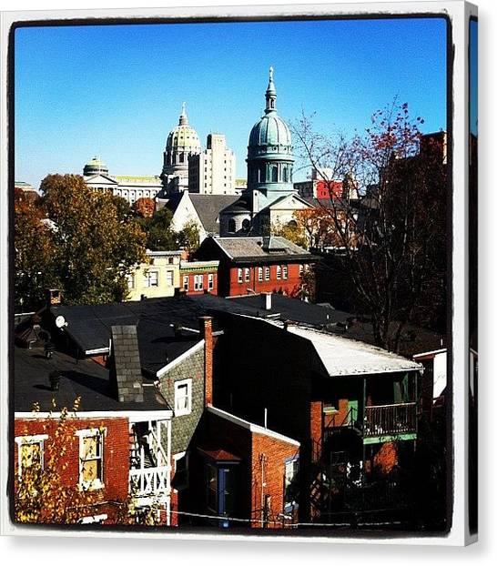 Pennsylvania Canvas Print - Harrisburg View by Jordan Roberts