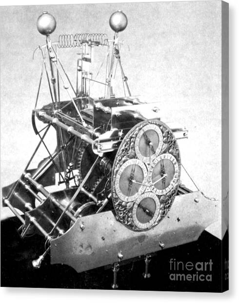 Self Discovery Canvas Print - Harrisons First Marine Timekeeper by Photo Researchers