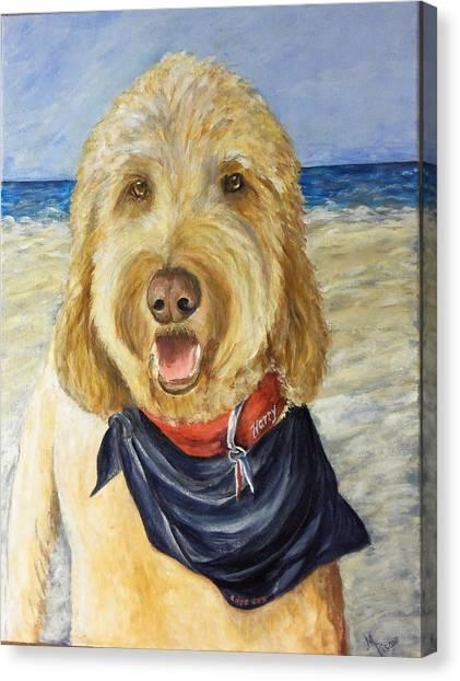 Harry At The Beach Canvas Print