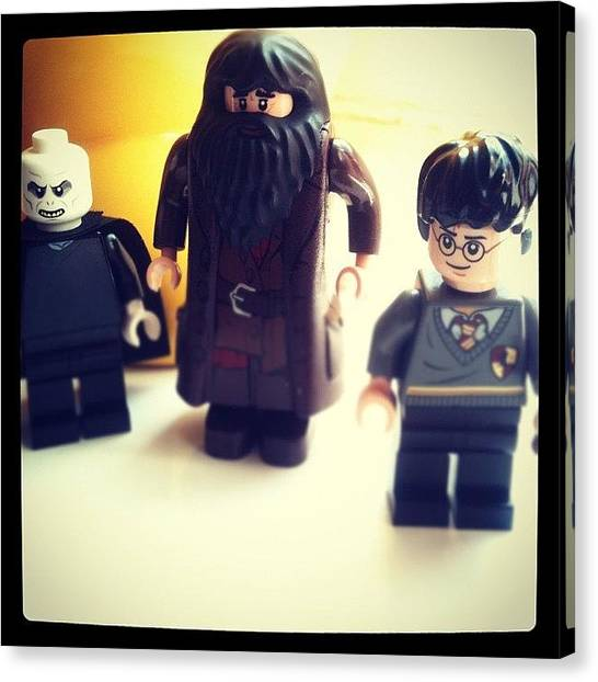 Harry Potter Canvas Print - Harry (lego) Potter by Barrie Gregson
