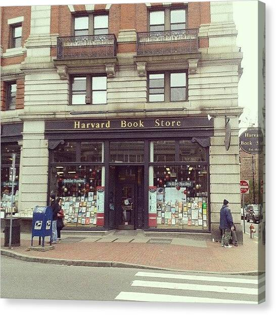 Harvard University Canvas Print - Harvard Book Store, Cambridge by Irina Bubnova