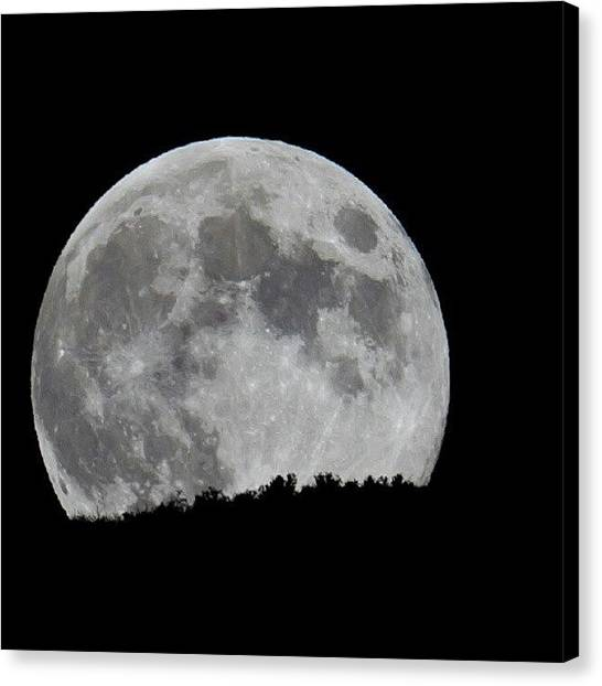 Harvest Canvas Print - Harvest Moon From Tonight In Utah by Carlos Caceres