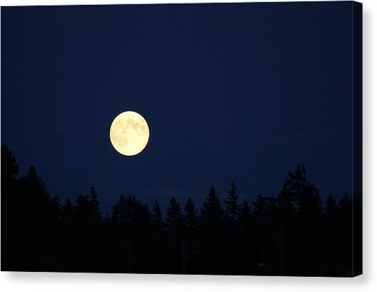 Harvest Moon Canvas Print by Jerry Cahill