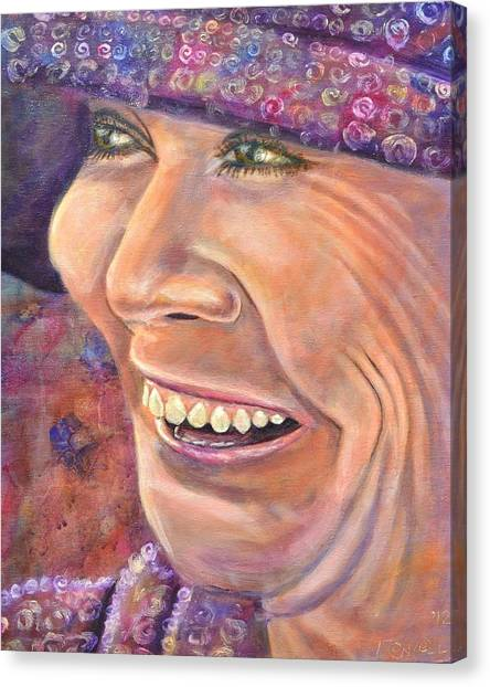 Hat Lady Canvas Print by Bob Rowell