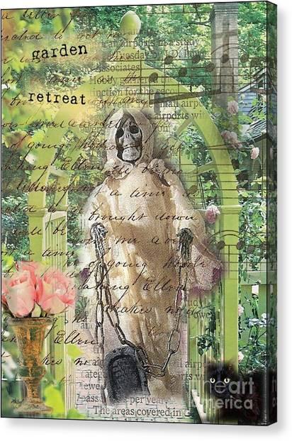 Haunted Garden Retreat Canvas Print