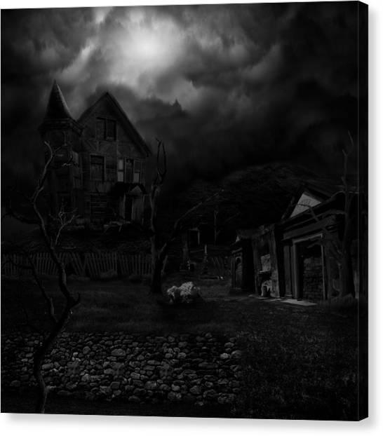 Haunted House II Canvas Print by Lisa Evans