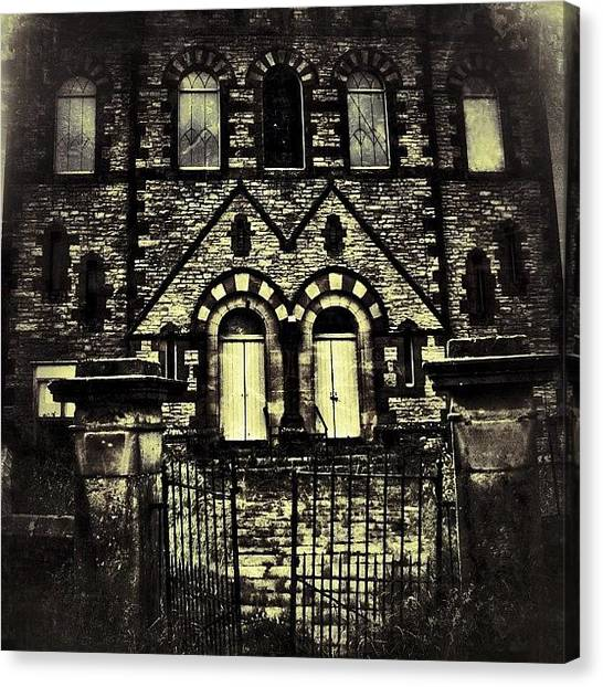 Horror Canvas Print - Haunted House On The Hill #haunted by Chris Barber