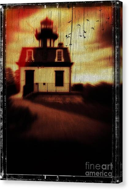 Haunted House Canvas Print - Haunted Lighthouse by Edward Fielding