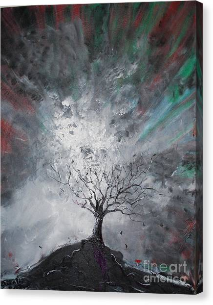 Haunted Tree Canvas Print