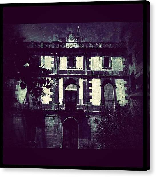 Horror Canvas Print - #haunted#house#barcelona#igdungeon #igfm by Jenni Martinez