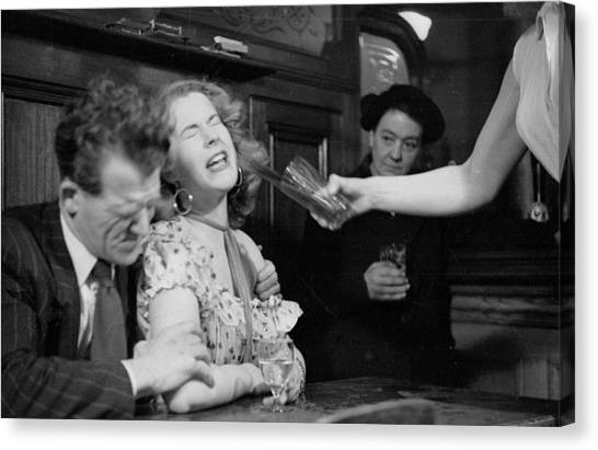 Pint Glass Canvas Print - Have A Drink by Bert Hardy