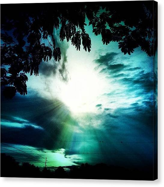 Edit Canvas Print - Have A #good #evening #friends by Lori Lynn Gager