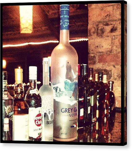 Vodka Canvas Print - Have Gray Goose, But An Alcoholic by Samay L