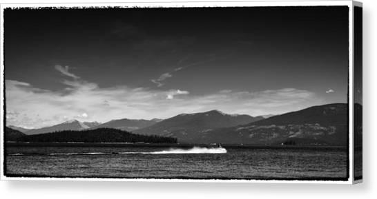Jet Skis Canvas Print - Having Fun On Priest Lake by David Patterson