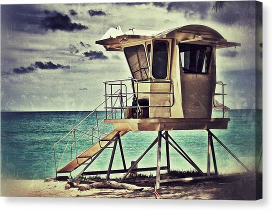 Hawaii Life Guard Tower 1 Canvas Print