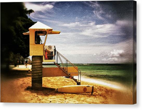 Hawaii Lifeguard Tower 2 Canvas Print