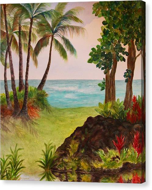 Hawaiian Oceanside Canvas Print
