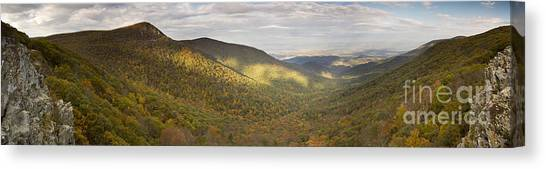 Shenandoah National Park Canvas Print - Hawksbill Mountain And Newmark Gap From Crecent Rock Overlook by Dustin K Ryan