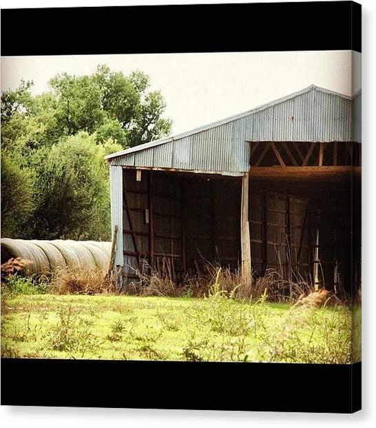 Oklahoma Canvas Print - Hay Barn by James Dornan