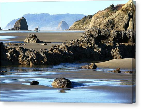 Haystack Rock From Arcadia Beach Canvas Print