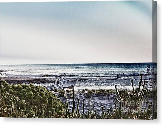 Hdr Boat Boats Beach Beaches Ocean Sea Photos Pictures Photography Photo Oceanview Seaview Picture Canvas Print by Pictures HDR