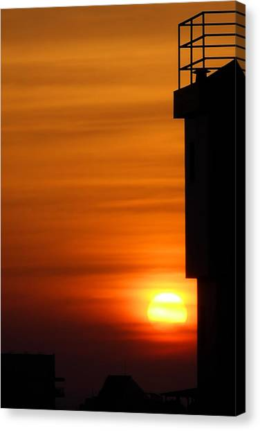 Hdr Sunset Canvas Print