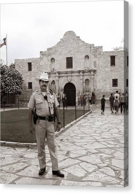 He Guards The Alamo Canvas Print