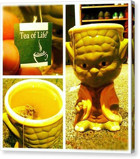 Yoda Canvas Print - Head His In Tea He Enjoys. #picstitch by Captain Bell