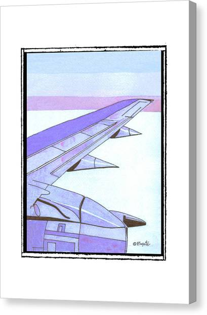 Headed Somewhere In Flight Canvas Print by Robert Boyette