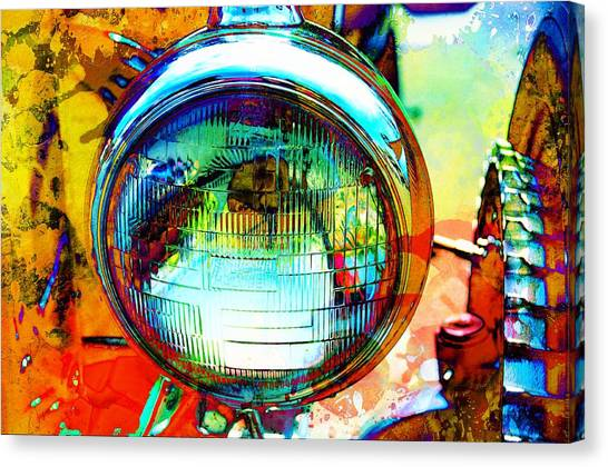 Headlight Classic Canvas Print by Anthony George