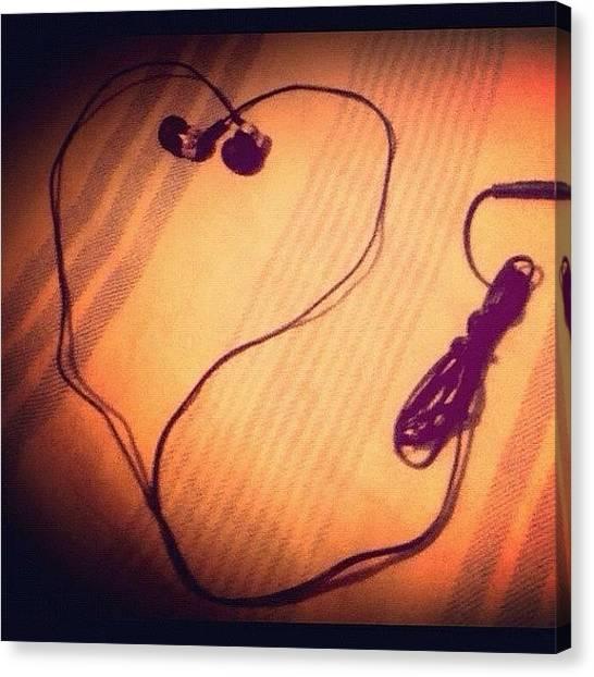 Headphones Canvas Print - #headphones #idea #gotbored #reposted by Armando Maldonado