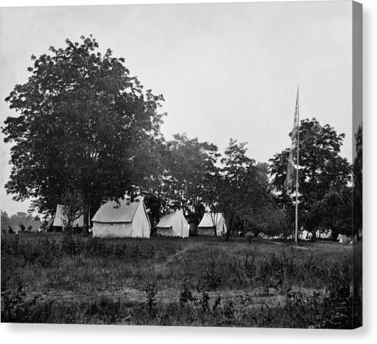 Army Of The Potomac Canvas Print - Headquarters - Army Of The Potomac - Fairfax Courthouse Virginia 1863 by International  Images