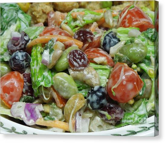 Ranch Dressing Canvas Print - Healthy Salad 1 by Renee Trenholm
