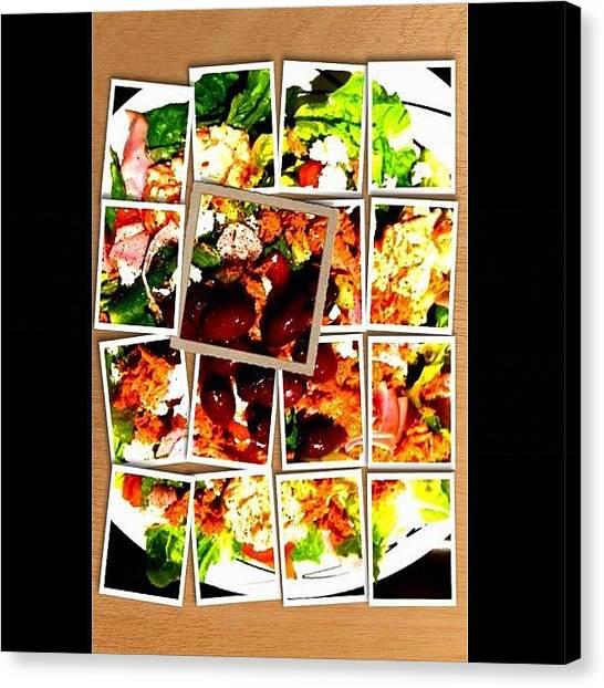 Ham Canvas Print - Healthy Salad by Avril O