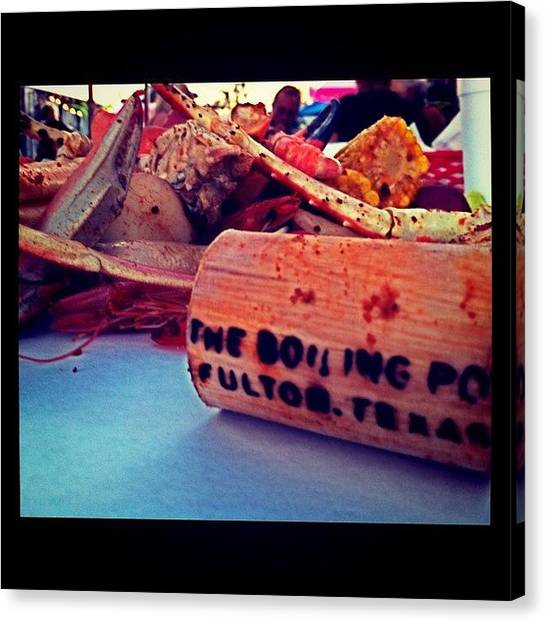 Seafood Canvas Print - Heaping Pile Of Blue Crab, King Crab by Corrie Pannell Fleming