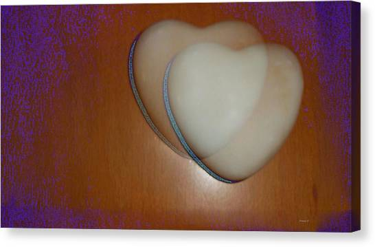 Hearts-marble Canvas Print by Ines Garay-Colomba