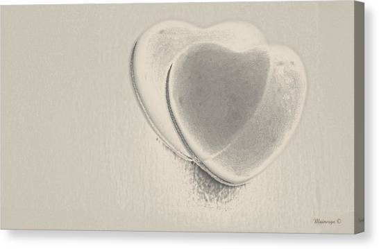 Hearts-smooth Canvas Print by Ines Garay-Colomba