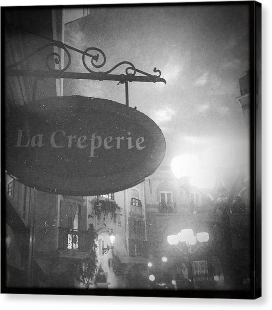 Heaven Canvas Print - Heaven Has Been Found! La Creperie In by James Roberts