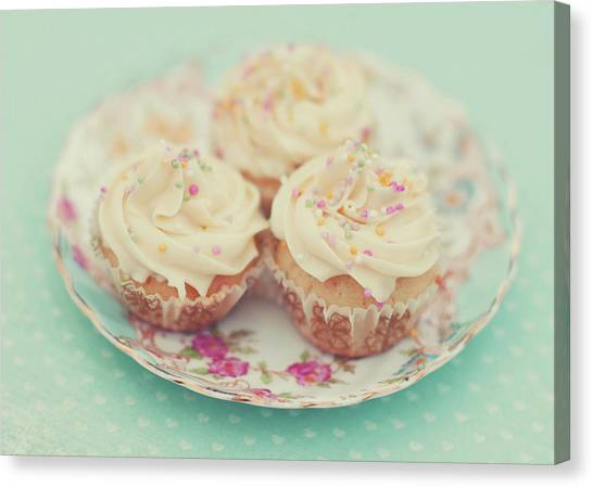 Cupcake Canvas Print - Heavenly Cupcakes by Karin A photography
