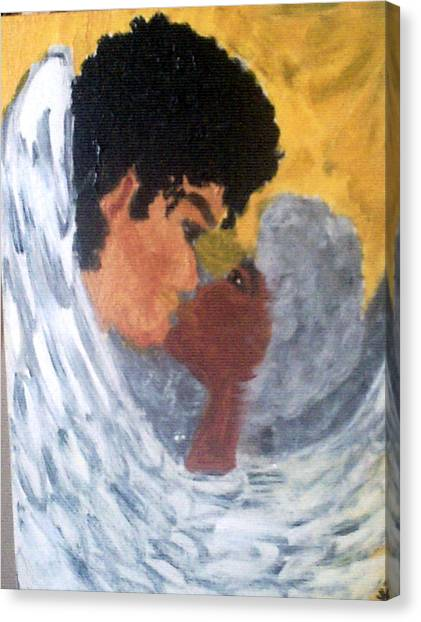 Heavenly Embrace Canvas Print by Violette Meier