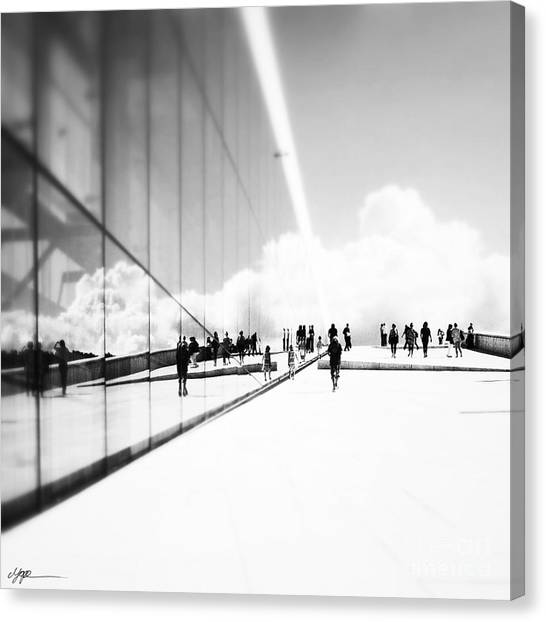 Heavenly Walk In Oslo 3 Canvas Print by Marianne Hope