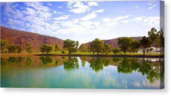 Heavitree Gap Reflected Canvas Print