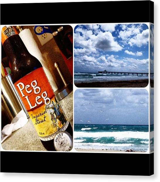 Beer Canvas Print - Heavy Seas. 😉 #pegleg #heavyseas by Emily W