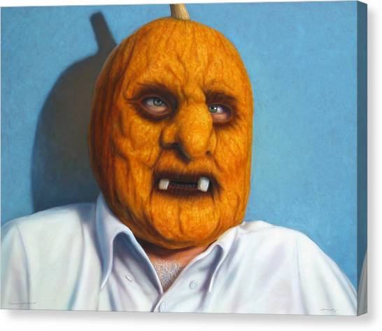 Pumpkins Canvas Print - Heavy Vegetable-head by James W Johnson