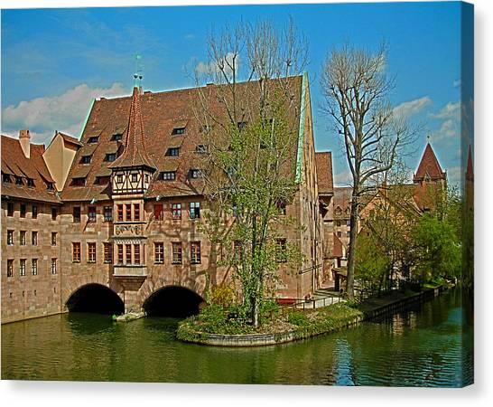 Heilig-geist-spital In Nuremberg Canvas Print