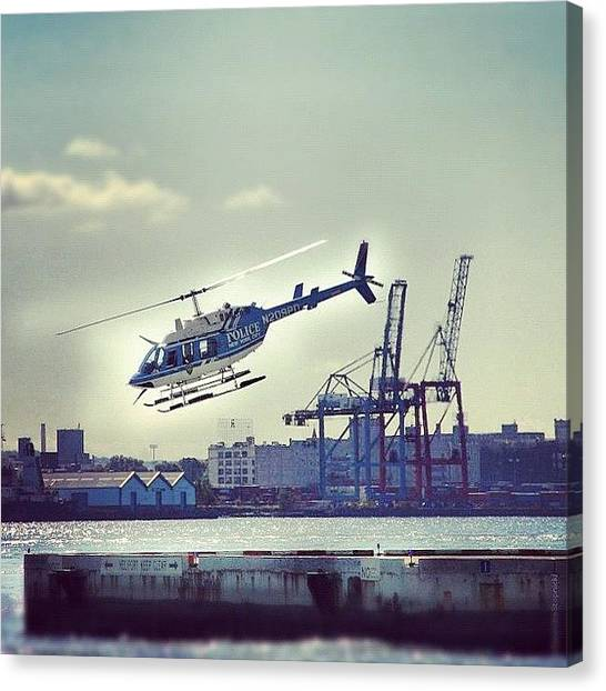 Helicopters Canvas Print - #helicopter #newyork #nc #river #hudson by Alexandre Stopnicki