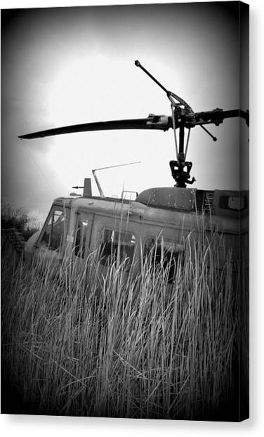 Helicopter Of War Canvas Print